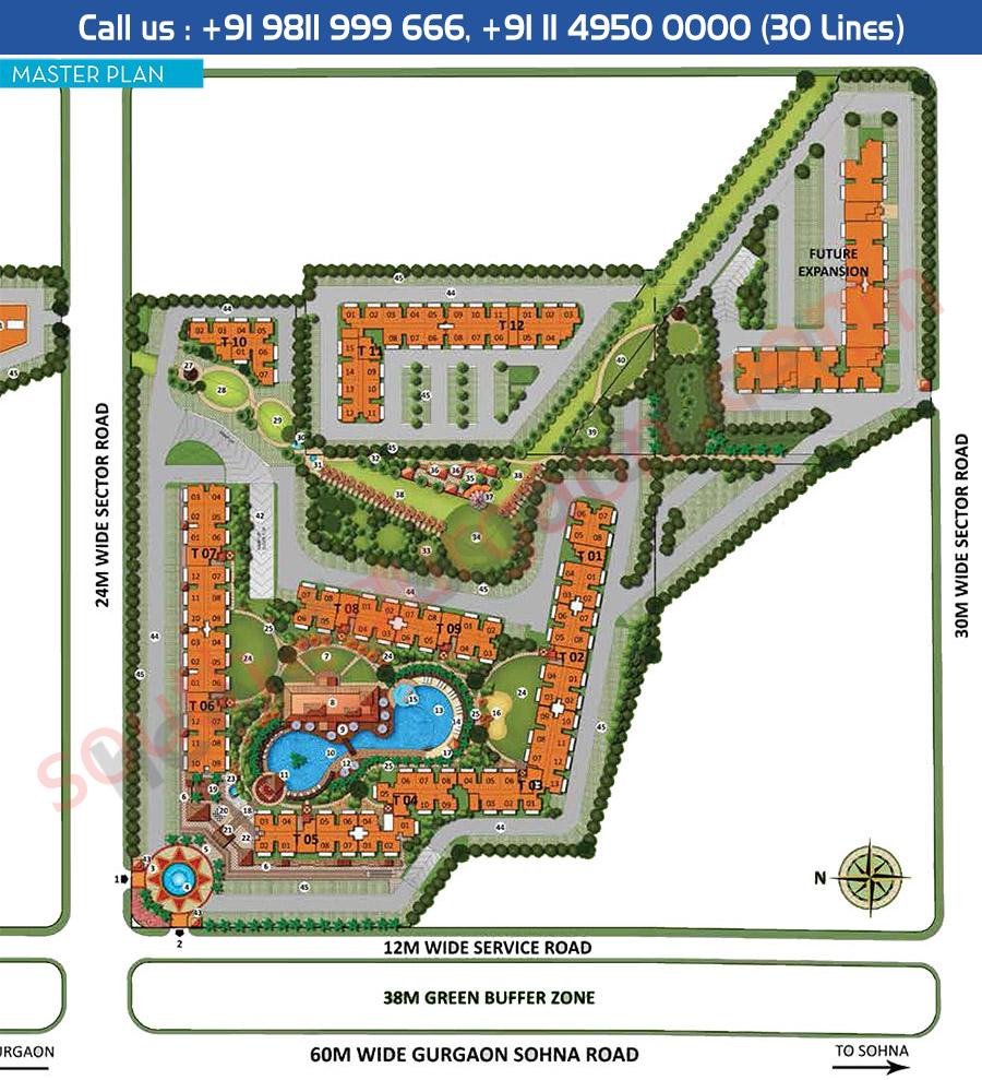 Site Plan - CHD Resortico South Gurgaon