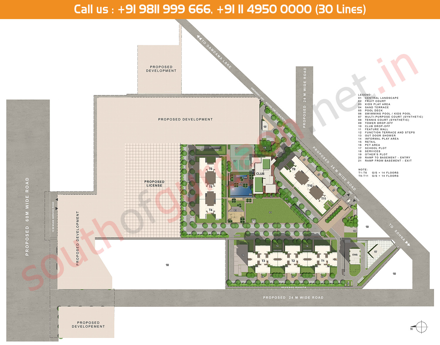 Site Plan - IREO Nuspark South of Gurgaon